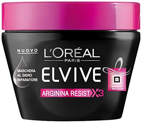 L\'Oréal Paris Elvive Arginina Resist X3 Maschera Rinforzante per Capelli Fragili, 300 ml - [confezione da 9]