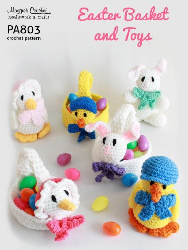 Crochet Pattern Easter hangers bunny and chick | 500x375