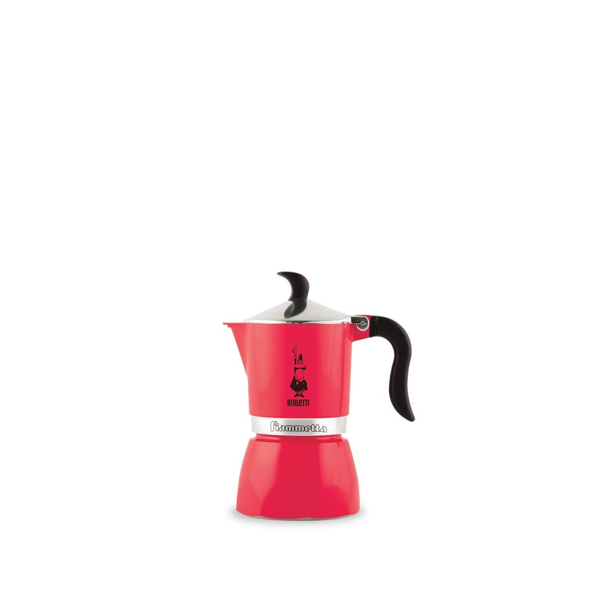 Bialetti Fiammetta, cafetera de aluminio color fresa fluo, 1 taza: Amazon.es: Hogar