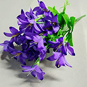 Artificial and Dried Flower 10 Fork 30 Heads Artificial Narcissus Simulation Daffodils Wedding Party Home Decorative Flowers Bouquet Home Decoration DIY – ( Color: A3 )
