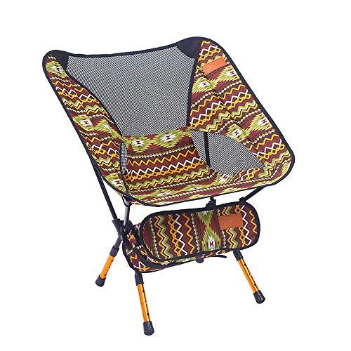 zhbotaolang Portable Ajustable Pliant Chaise - Ultra Léger Plein Air Sport Camping Tabouret Randonnée Pêche Pique-Nique Plage Barbecue Détendre Siège Marron