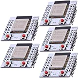 AZDelivery 5 x ESP32 Wifi modulo con placa Adaptadora gratis para Arduino Raspberry Pi y microcontroladores con ebook incluido