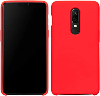 Case Compatible with OnePlus6/6T Liquid Silicone Gel Rubber Full Body Shockproof Case for 6T -Blue,Black,red