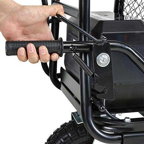 SuperHandy Utility Service Cart Power Wagon Wheelbarrow Electric 48V DC Li-Ion Powered 500Lbs Load and 1000Lbs+ Hauling Capacity Farm and Garden All Purpose Modular Cargo Bed