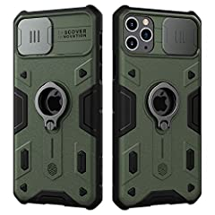 """Nillkin CamShield Armor Case with Slide Camera Cover & Ring Kickstand for iPhone 11 Pro Max 2019 6.5"""" Unique Design: Slide Camera Cover to protect the camera from scratching, 0.2mm lifted bezel for camera protection. Strong Protection: utilizes Impac..."""