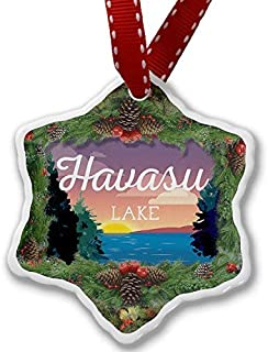 SheilaNelly Christmas Ornament Lake Retro Design Lake Havasu