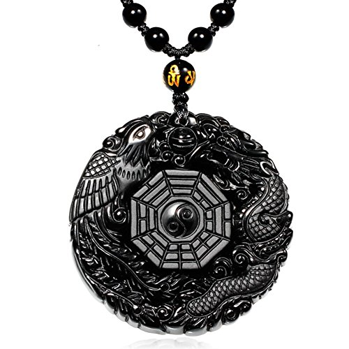 Dragon Obsidian Necklace