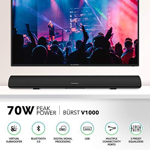CloudWalker BÜRST V1000 70W Peak Power 2.1 Channel Soundbar | Virtual Subwoofer | Bluetooth 5.0