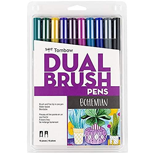 Tombow Pen Bohemian Dual Brush Markers, 10-Pack, 10 Piece