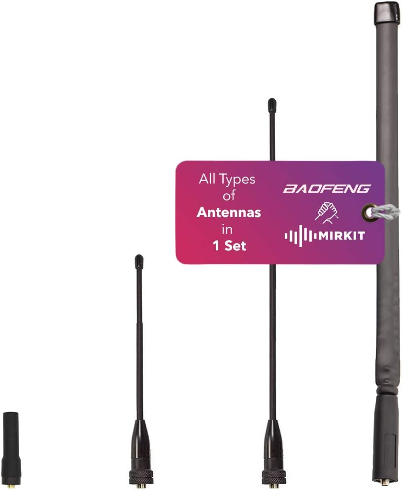 MIRKIT Set of 4 Dual Band Ant Durable Antenna Whip Cash special price Max 49% OFF SMA-Female: