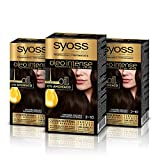 Syoss Oleo Intense - Tono 2-10 Negro Castaño (Pack De 3) – Coloración permanente sin amoníaco – Resultados de peluquería – Cobertura profesional de canas
