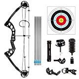 GCQ Compound Bow Archery, Aluminum Magnesium alloy Bow kit with Dyneema Bow String