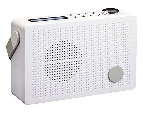 Lenco DAB + Digitalradio/ UKW Radio PDR-030 tragbar mit Akku, RDS-Anzeige, Senderspeicher, Wecker-Funktion, Kopfhörer-Anschluss, Teleskopantenne, weiß