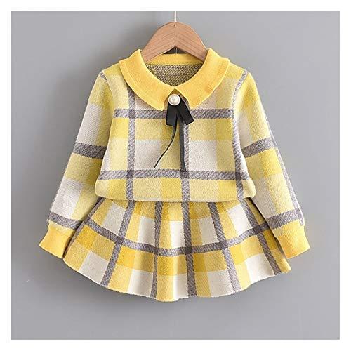Youpin Vestidos de niña a la moda, ropa de princesa, suéter, costura de red, vestido de bola, vestido de niña, vestido de cumpleaños para niñas de 2 a 6 años (color: marrón, tamaño de niño: 4T)