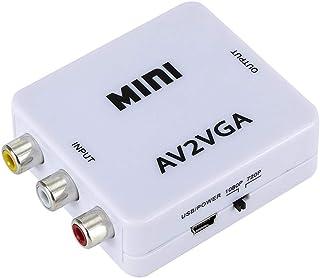Adaptador HDMI para VGA Heaven2017, Mini conversor VGA de vídeo portátil HD AV RCA para HDMI