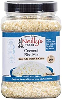 NEILLY`S FOODS - Coconut Rice Mix, All Natural, Vegan, Low Sodium, Gluten Free, No Preservatives, 24 Fl Oz | Pack of 6