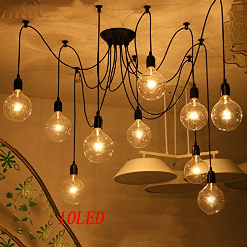 tueselesoleil Ceiling Spider Lamp Antique Classic Adjustable DIY Light for Bedrooms Dinning Rooms Living Room Kitchen Island