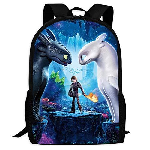BYD-47 - Zaino con stampa 3D'How to Train Your Dragon Hidden World' Nero Nero Taglia unica