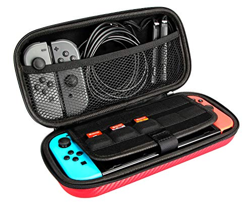 Amazon Basics Carrying Case for Nintendo Switch and Accessories - 10 x 2 x 5 Inches, Black
