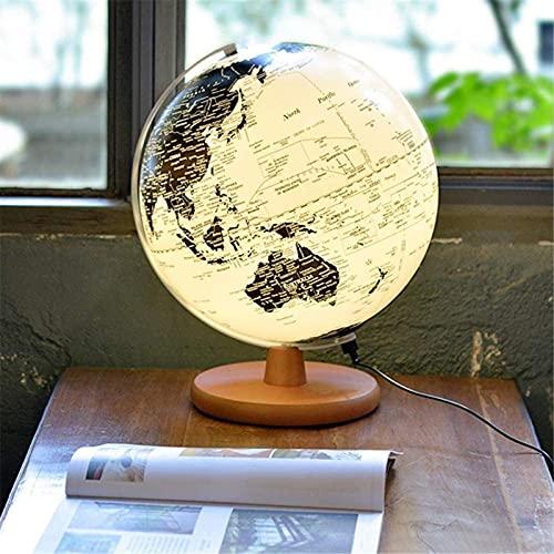 Weltkugeln, LED-beleuchtete Erdkugel für Kinder und Erwachsene...