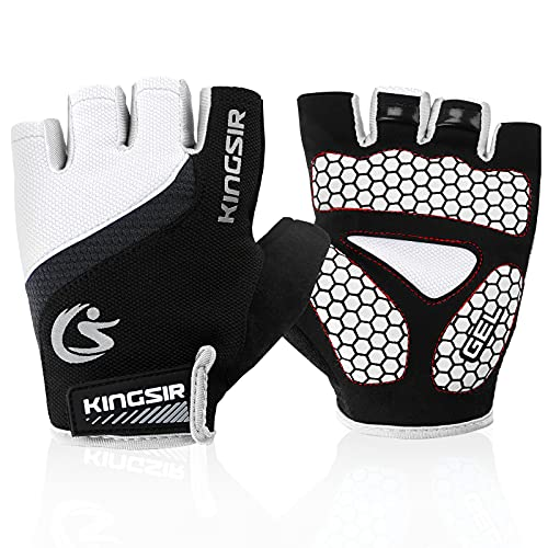 COOLOO Cycling Gloves Breathable Outdoor Bike Gloves for Men & Women Mountain Road Anti-slip Shock-absorbing Pad Gym MTB Half Finger