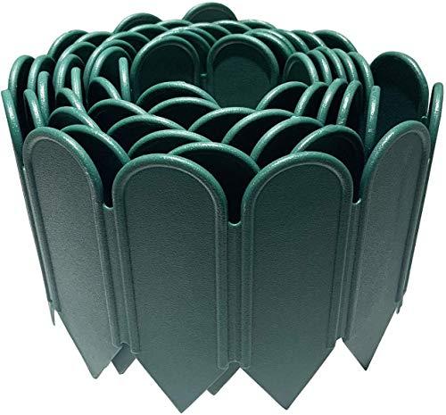 JonesHouseDeco Bordure de jardin en plastique PP flexible et décorative pour jardin, pelouse, parterre de fleurs, allée, 300 cm x 15 cm x 0.2 cm – Vert