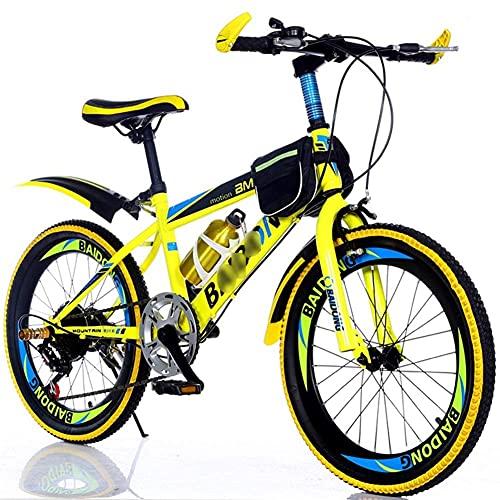 Y DWAYNE Bicicletas para niños de 20/22 pulgadas bicicletas para niños y niñas de velocidad variable bicicleta de montaña deportes al aire libre Ciclismo Cross Country Boy senderismo bicicleta