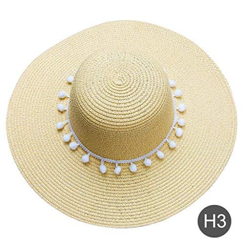 Bordado personalizado personalizada corazón del logotipo de texto Su nombre Mujeres Sombrero de sol Pompon sombrero grande del borde del sombrero de paja de la playa de luna de miel beige de la boda z