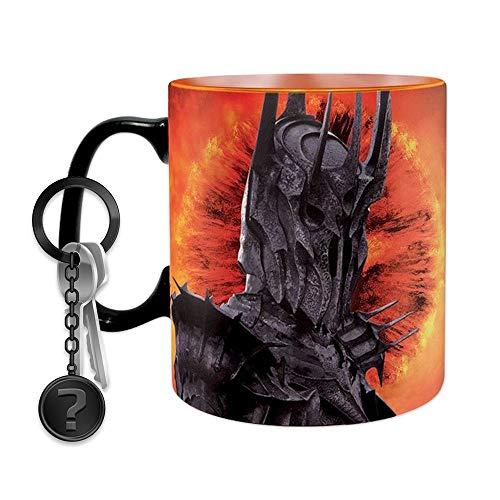 Herr der Ringe - Sauron Ring - XXL Farbwechsel-Tasse | SET inkl. Schlüsselanhänger