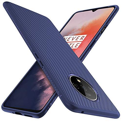 iBetter für Oneplus 7T Hülle, Ultra Thin Silikon hülle Abdeckung Telefon Case Stoßfest Case Handyhülle Schutzhülle Shock Absorption Backcover passt für Oneplus 7T Smartphone,Blau