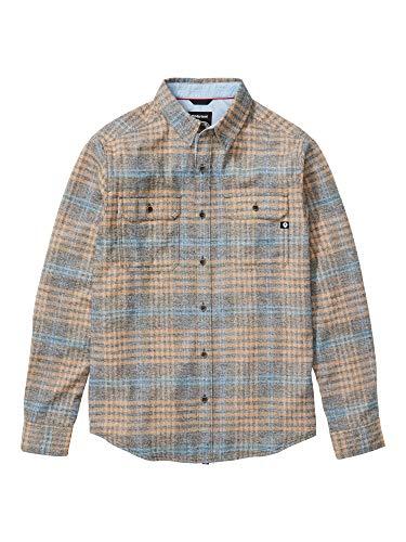 Marmot Herren Langärmeliges Outdoor-Hemd, Wander-Shirt Mit Uv-Schutz, Atmungsaktiv Jasper Midweight Flannel Long Sleeve, Nori Heather, L, 42590