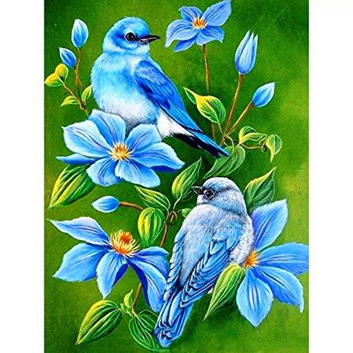Rompecabezas para adultos / adolescentes / niños (2000 piezas) Flores azules y pájaros azules 2000 piezas Rompecabezas para adultos Adolescentes Rompecabezas Divertido juego de rompecabezas grande, R