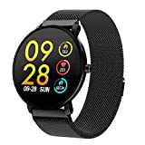 WWVAVA Sport Bluetooth 1,3 Pouces Full Touch Screen Smart Watch Watch Fitness Tracker Hommes IP68 imperméable Femmes Smartwatch,...