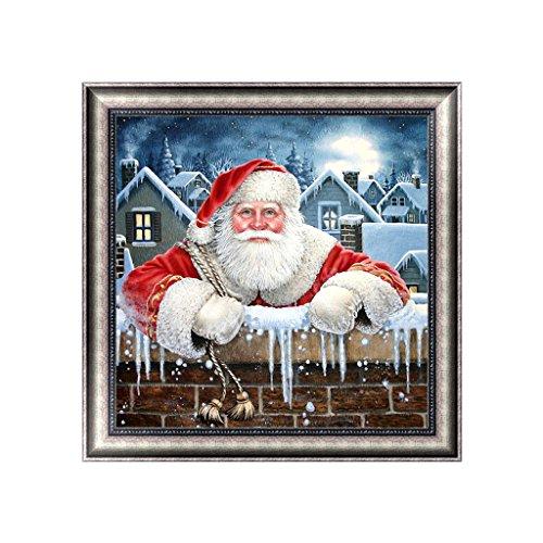 Broderie diamant 5D Père Noël pour décoration d'intérieur