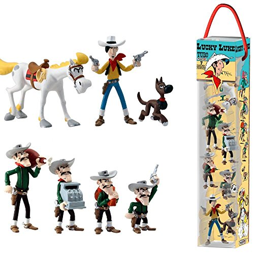 Plastoy SAS PLA70387 - Lucky Luke: Tube Lucky Luke, 7 Figuren