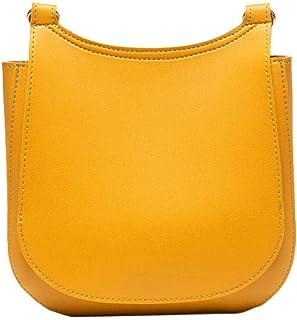 Cross Body Bag Women Leather Fashion Bucket bag Yellow