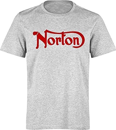 Fashion Men T-Shirt Marqué Norton, Moto Anglaise, Vintage, Biker, Motard,