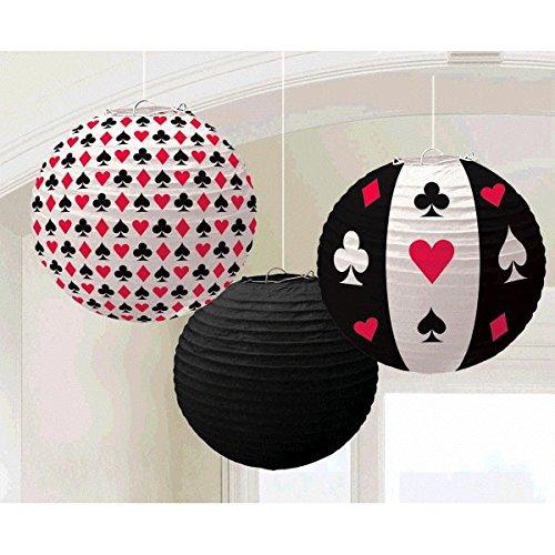 amscan 240094 24 cm Casino Papier Lanternes