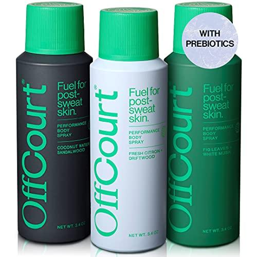 OffCourt Deodorant Body Spray for Men - Aluminum Free – Powerful Prebiotics to...