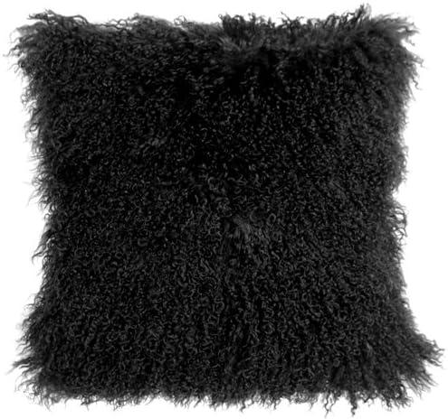 Genuine 100% Tibetan Mongolian Sheepskin Throw Outstanding Max 52% OFF Pillow Fur Comple
