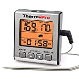 ThermoPro TP-16S Digital Meat Thermometer Smoker Candy Food BBQ Cooking Thermometer for Grilling...