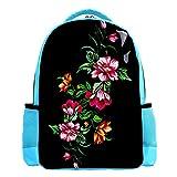 1990S cinta de música colorida ligera mochila infantil niños niños niños mochila escolar durable casual libro mochila para niña y niño 26.6x20x42cm, 8 (Multicolor) - W01