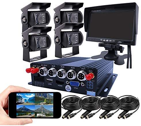 JOINLGO 4 Channel GPS 4G 1080P AHD Mobile Vehicle Car DVR MDVR Video Recorder Kit Real time product image