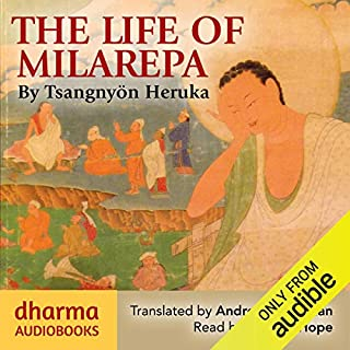 The Life of Milarepa     The Classic Biography of the Eleventh-Century Yogin and Poet – One of the Most Renowned Spiritual Figures in Tibetan Buddhist History              By:                                                                                                                                 Tsangnyön Heruka                               Narrated by:                                                                                                                                 William Hope                      Length: 10 hrs and 24 mins     15 ratings     Overall 4.8