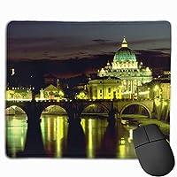 サンピエトロ大聖堂 マウスパッド 運びやすい オフィス 家 最適 おしゃれ 耐久性 滑り止めゴム底付き 快適操作性 30*25*0.3cm