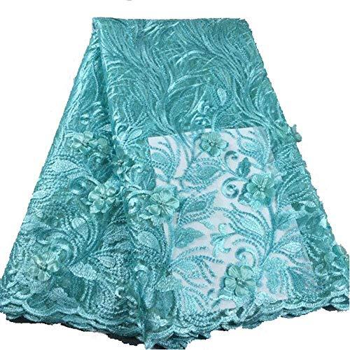Vestido de novia de telas bordadas africano Envío suizo del cordón de tela africana del cordón tejido de tul for el ajuste del cordón del cordón del vestido de las mujeres, (Color: Naranja, Tamaño: -5