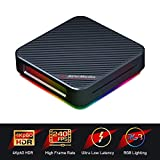 AVerMedia Live Gamer Bolt - Caja de Captura de vídeo 4K p60 HDR Pass-Through, Ultra Baja Latencia, HDMI 2.0, luz Brillante RGB, conexión Sencilla y rápida con Las Plataformas PS4, Xbox