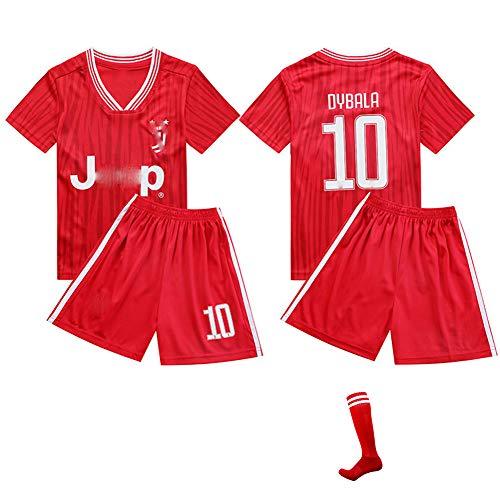 CHSC # 10 Dybala Trikot Trikotset uniform Jersey,Zuhause Outfit Kinder Kurzarm Shorts Socken Trainingsbekleidung Wettbewerb Fan-Ausgabenweste Jungengeschenk red-28