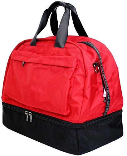 Bikkembergs Borsa Borsone Palestra Viaggio Uomo Donna Bag Men Women DB-Tape Soccer Duffle Kyoto Red D0619