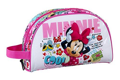 """Minnie Mouse """"Cool"""" Petit sac de toilette officiel, avec poignée"""